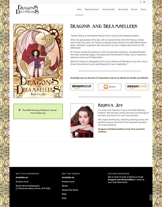 dragons dreamsellers website design project