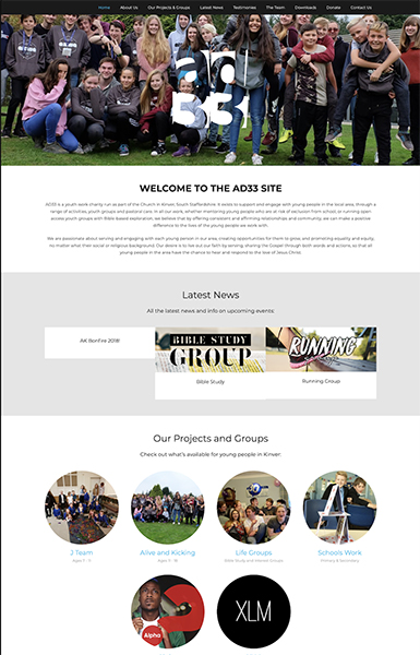 ad33 charity website design