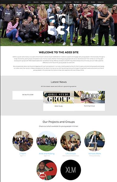 ad33 charity website design