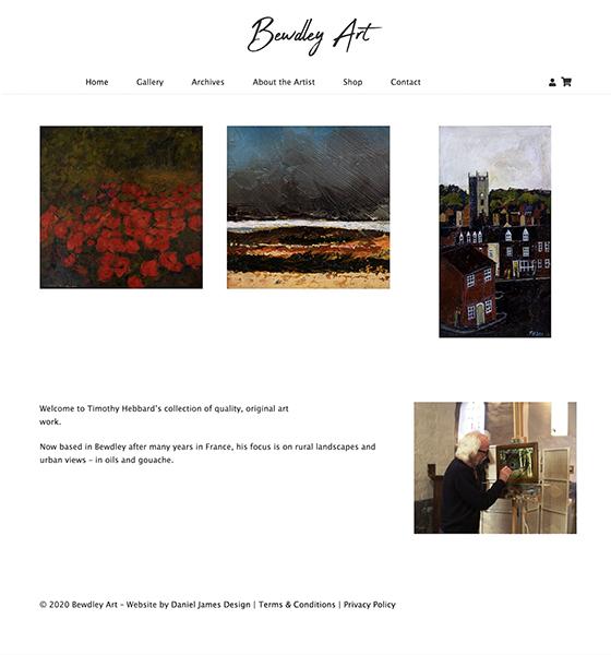 bewdley art website design