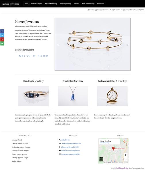 kinver jewellers website design