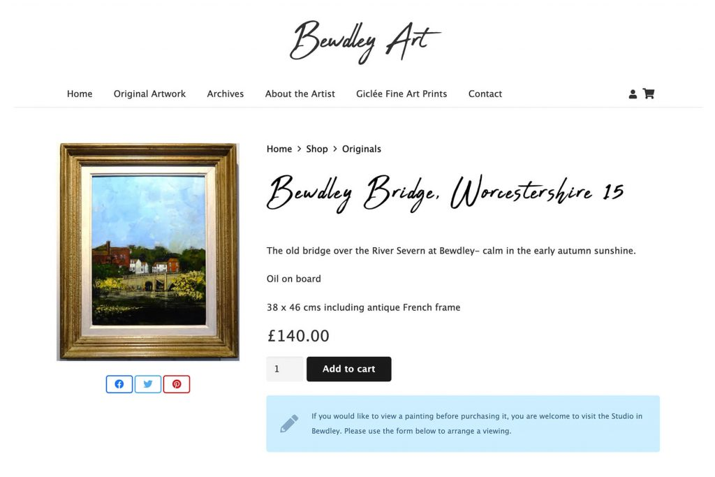 bewdley art website design