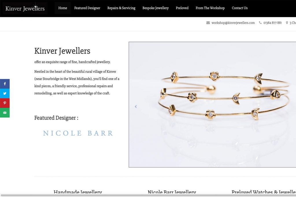 kinver jewellers website design