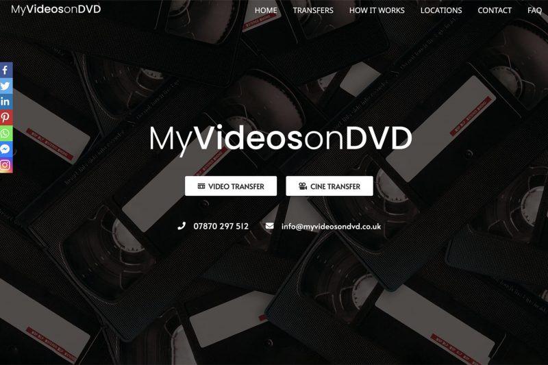 my videos on dvd website design