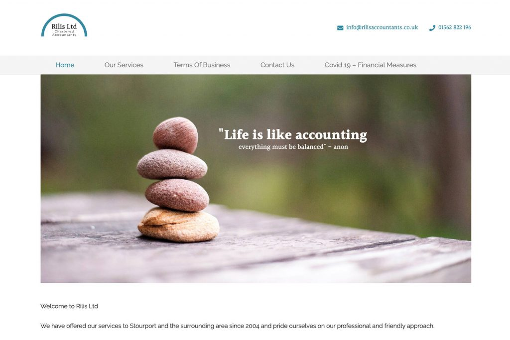 rilis accountants website design
