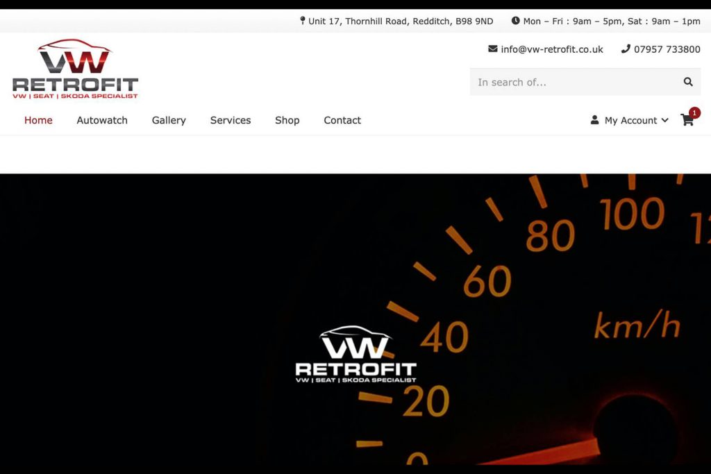 vw-retrofit website design